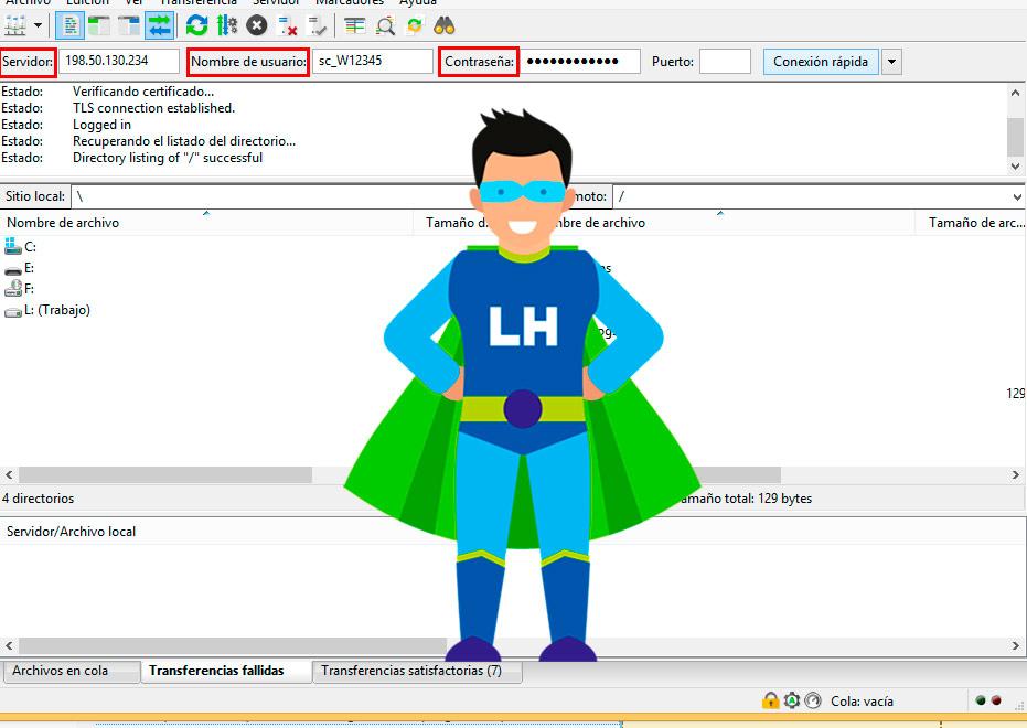 Configurar y subir mp3 al AutoDJ usando FTP FileZIlla